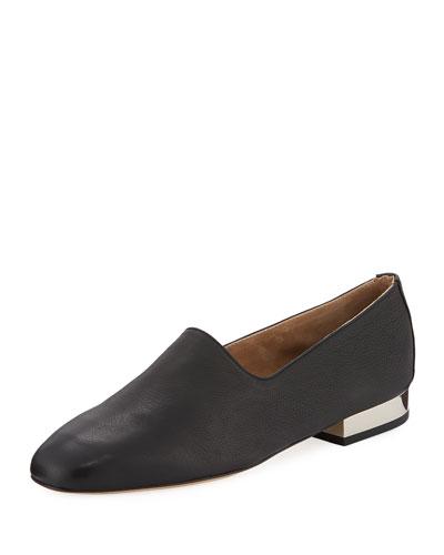 Ive Pebbled Flat Loafer