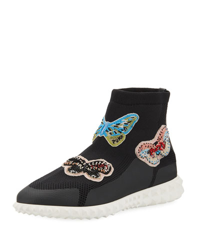 Beaded Butterfly Sock Sneaker