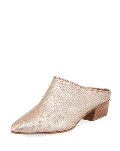Fife Leather Block-Heel Mule
