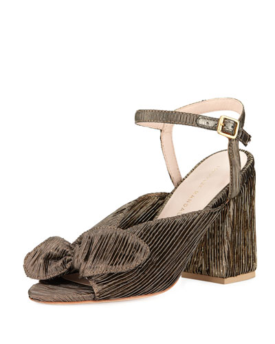 Leigh Metallic Ankle-Strap Sandal