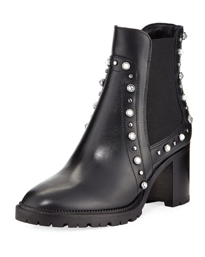 Burrow Studded Block-Heel Boot