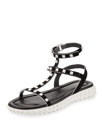 Flat Rockstud Flatform Sandal