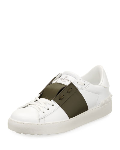 Leather Low-Top Colorblock Sneaker