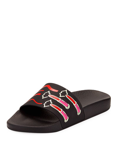 Lipstick Pool Slide Sandal
