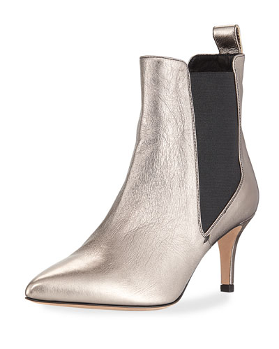 Parker Metallic Point-Toe Chelsea Boot