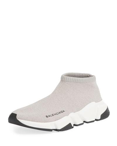 Metallic Knit Sock Sneaker