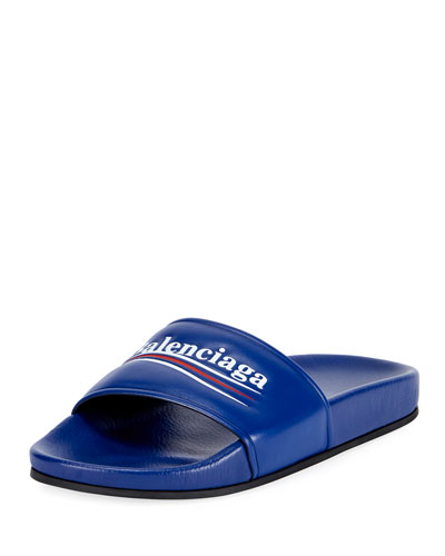 Logo Campaign Flat Pool Slide Sandal