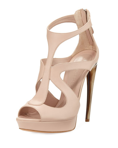 Strappy Leather Platform Sandal
