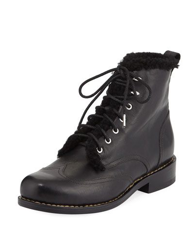 Cozen Fur-Trim Leather Boot