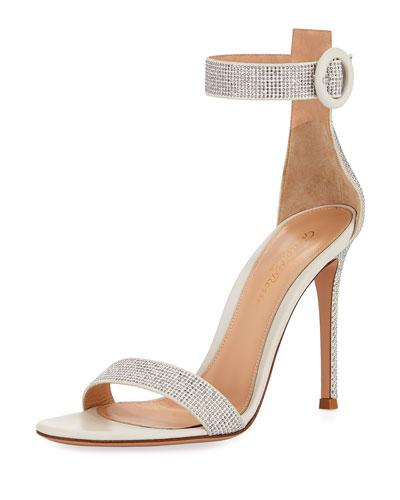 Studded Leather Ankle-Strap Sandal
