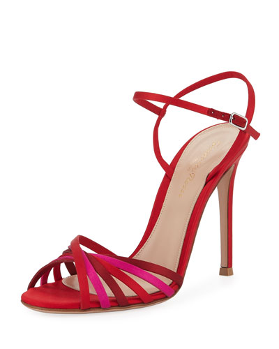 Strappy Satin 105mm Sandal