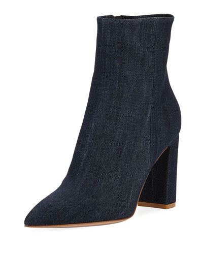 Denim Point-Toe 85mm Boot