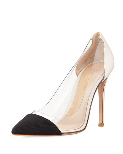 Grosgrain Plexi Illusion Pump