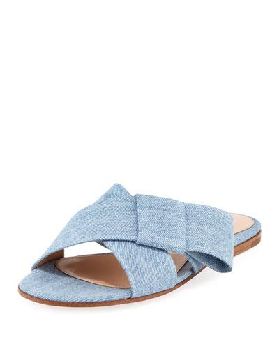 Flat Ribbon Slide Sandal