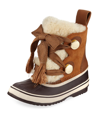 x Sorel Shearling Fur-Trim Weather Boot