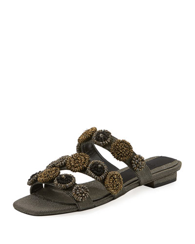 116983cb5cea Regina Metallic Embroidered Sandal