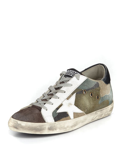 Superstar Camouflage Low-Top Sneakers, Camou Grey