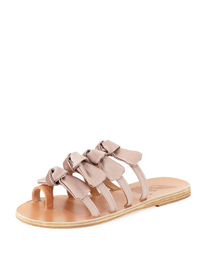 Hara Satin Bow Slide Sandal