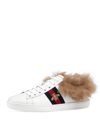 New Ace Sneaker w/ Fur Trim