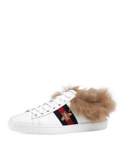 New Ace Sneaker w/ Fur Trim