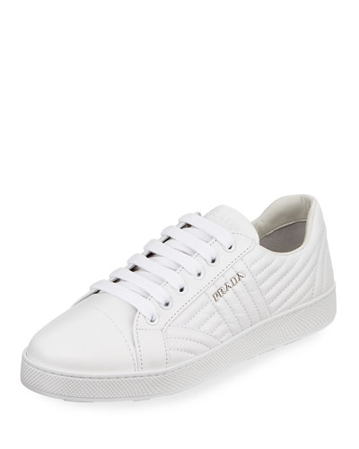 Stitched Leather Low-Top  Sneaker