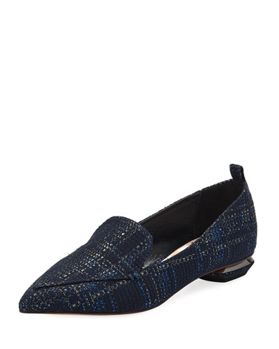 Beya Plaid Tweed Loafer