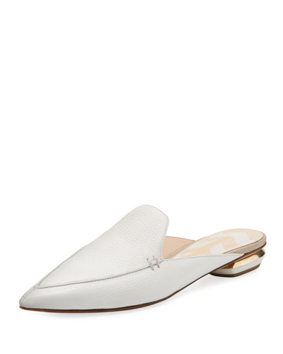 Beya Leather Loafer Mule