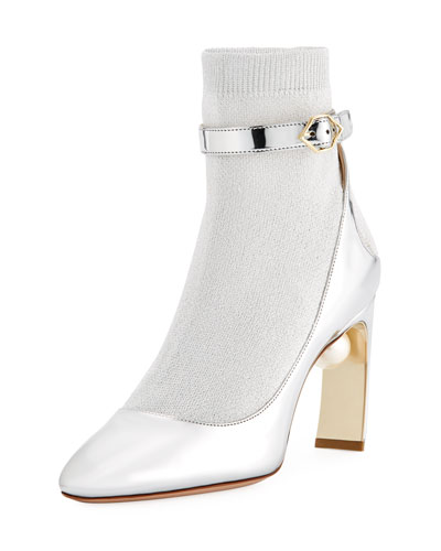 Lola Sock Pumps-Illusion Ankle Boot