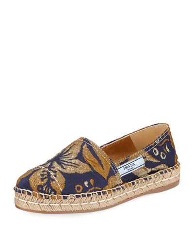 Metallic Jacquard 20mm Espadrille