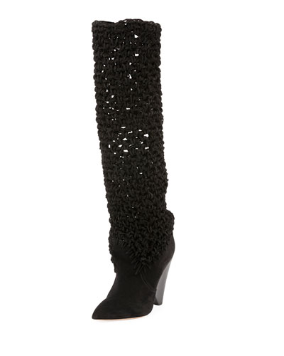 Niki Crocheted Tall Boot