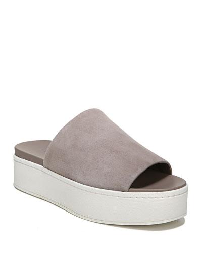 Walford Flatform Suede Slide Sandal