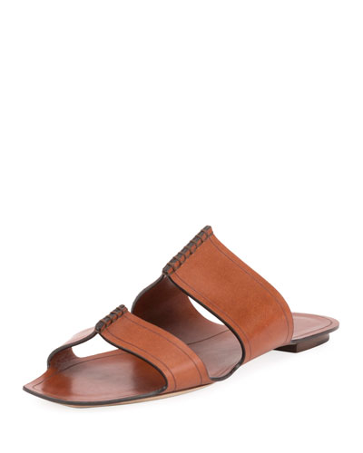 Two-Band Raised Flat Slide Sandal