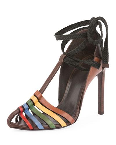 Huarache Ankle-Tie Sandal
