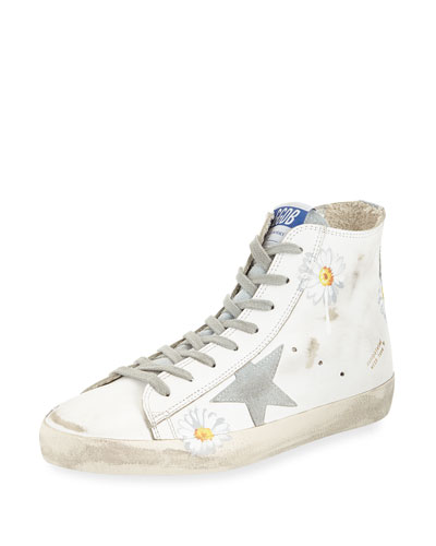 Francy Floral-Print High-Top Sneaker