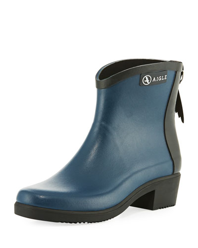 Miss Juliette Short Rubber Boot, Navy
