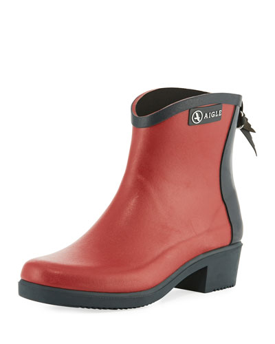Miss Juliette Short Rubber Boot, Red