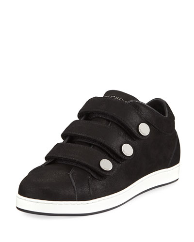 NY Three-Strap Leather Sneaker
