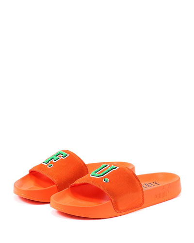 Leadcat Fenty Suede Pool Slide Sandal, Orange