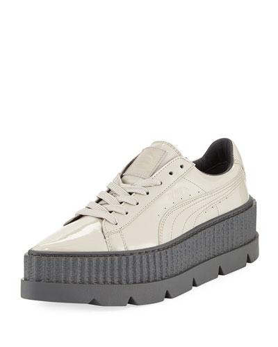 Patent Platform Creeper Sneaker, Gray