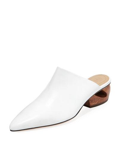 Haya Leather Slide Mule