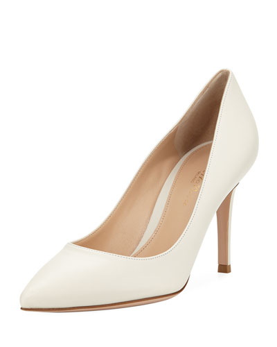 85mm Leather Point-Toe Pump