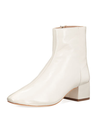 Carter Leather Block-Heel Bootie