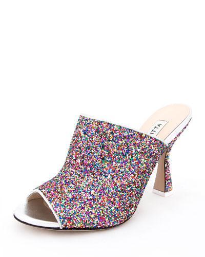 Pamela Glittered Mule Sandal