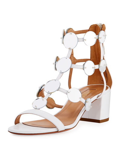 Indian Moon Block-Heel Sandal