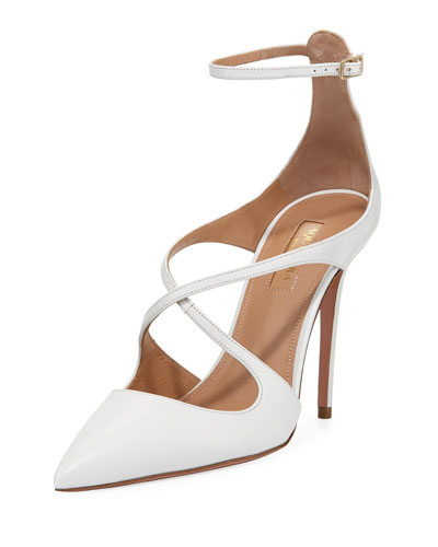 Viviana Leather Ankle-Strap Pump