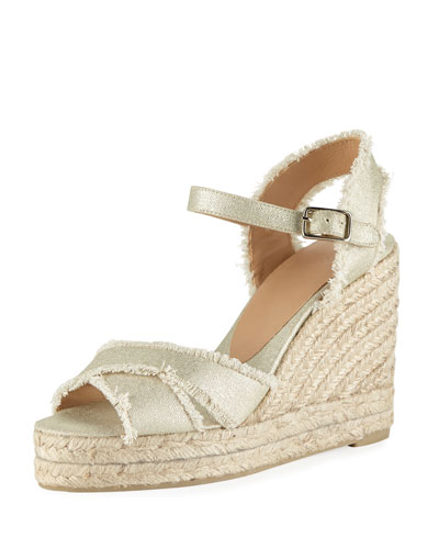 Bromelia Frayed Wedge Espadrille