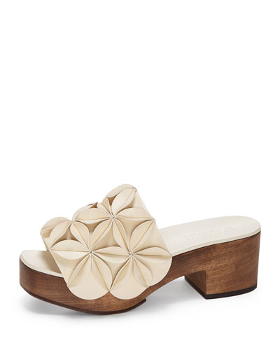 Natalea Slide Sandal with 3D Flowers
