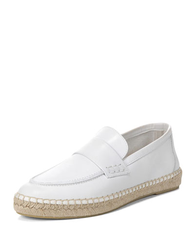 Daria Leather Flat Espadrille Loafer