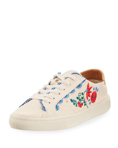 Ibiza Embroidered Linen Sneaker