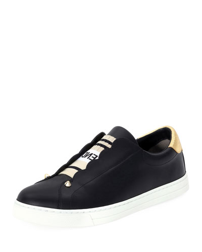 Rockoko Leather Slip-On Skate Sneaker